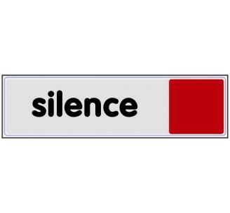 Plaque de porte plexi couleur silence