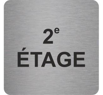 Plaque porte alu ou pvc picto carré 2e Etage