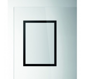 porte affiches sun mural adh sif repositionnable format a4 noir. Black Bedroom Furniture Sets. Home Design Ideas