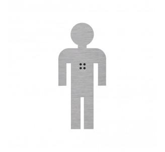 Silhouette garçon en alu ou pvc avec braille