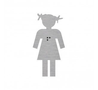 Silhouette fillette en alu ou pvc avec braille