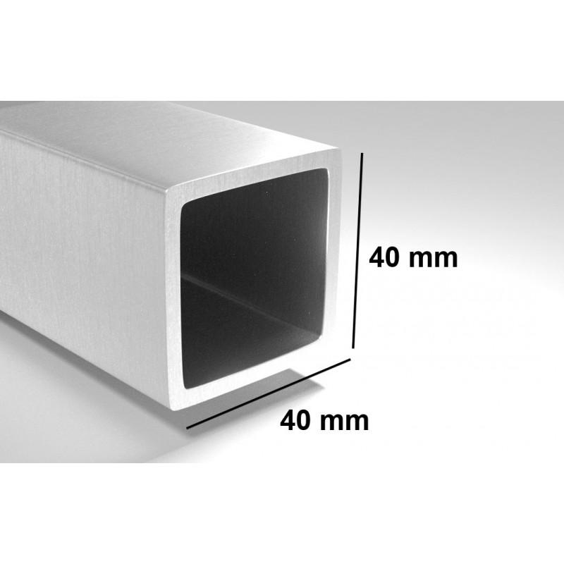 poteau acier galvanis 40x40 longueur de 1 50m. Black Bedroom Furniture Sets. Home Design Ideas