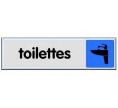 Plaque de porte plexi couleur toilettes
