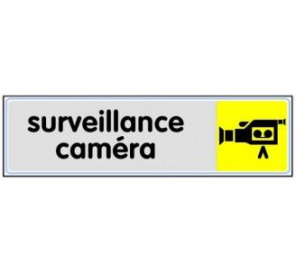 Plaque de porte plexi couleur surveillance caméra