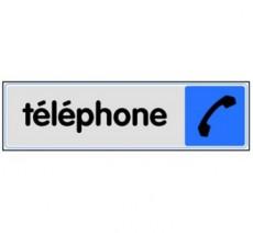 Plaque de porte plexi couleur téléphone