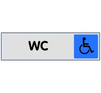 Plaque de porte plexi couleur WC handicapé