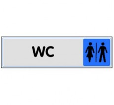 Plaque de porte plexi couleur WC mixte