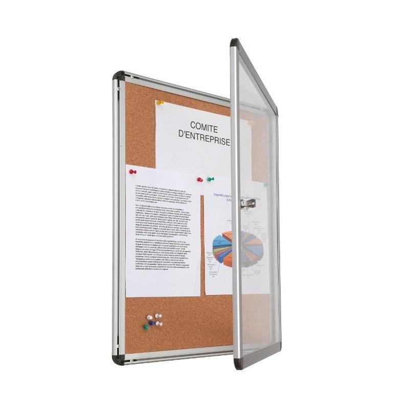 vitrine li ge et alu vitrage plexi jusqu 39 4 a4. Black Bedroom Furniture Sets. Home Design Ideas