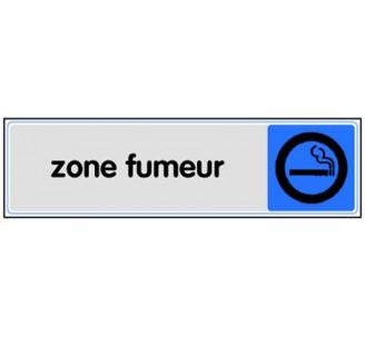 Plaque de porte plexi couleur zone fumeur