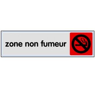 Plaque de porte plexi couleur zone non fumeur