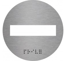 Picto en alu ou pvc découpé avec braille Sens interdit