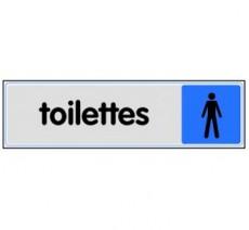 Plaque de porte plexi couleur toilettes homme