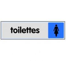 Plaque de porte plexi couleur toilettes femme