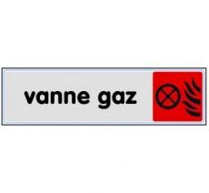Plaque de porte plexi couleur vanne gaz
