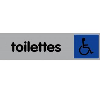 Plaque de porte plexi couleur toilettes handicapé