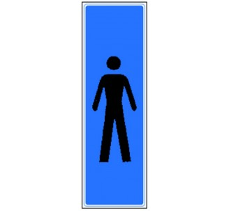 Plaque de porte plexi couleur toilettes homme vertical
