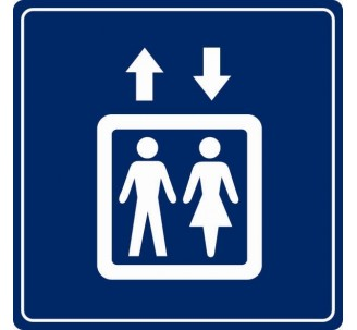 Pictogramme plexi couleur ascenseur