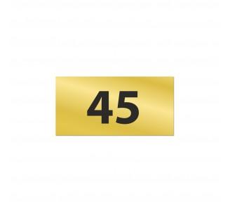 Numéro de chambre gravé PVC bleu