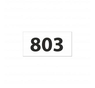 Numéro de chambre gravé PVC blanc