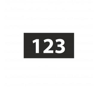 Numéro de chambre gravé PVC noir