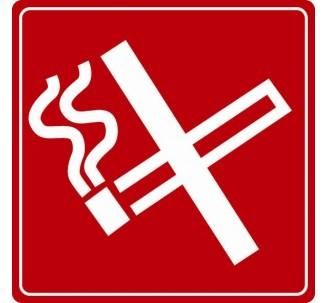 Pictogramme plexi couleur défense de fumer