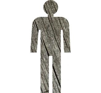 Silhouette à effet texture bois Homme