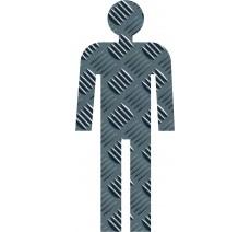 Silhouette à effet texture Métal Homme
