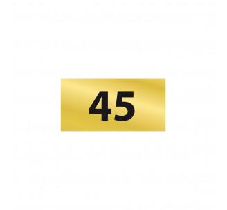 Numéro de chambre en relief PVC or