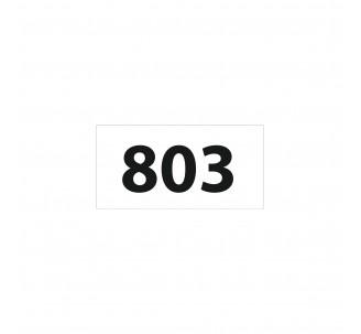 Numéro de chambre en relief PVC blanc