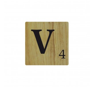 lettre en bois naturel v d co scrabble. Black Bedroom Furniture Sets. Home Design Ideas