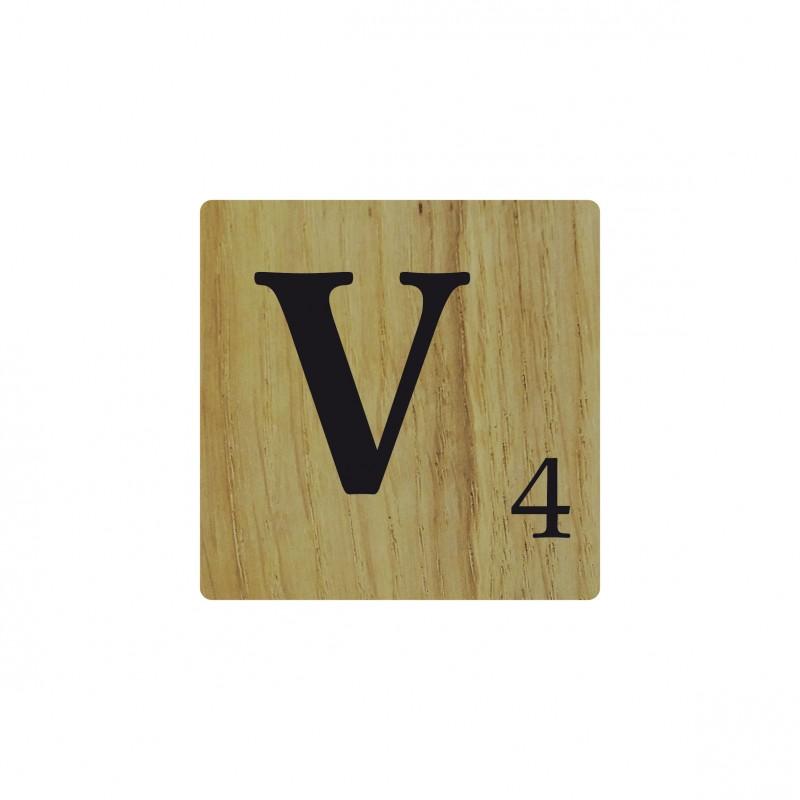 Lettre en bois naturel v d co scrabble - Deco lettre scrabble ...