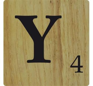 lettre y scrabble Lettre en bois naturel Y déco Scrabble lettre y scrabble