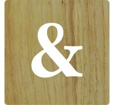 Lettre déco Scrabble en bois naturel &