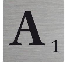 Lettre déco Scrabble en alu A
