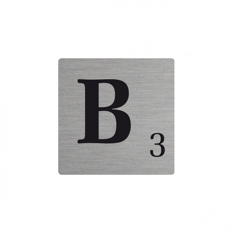 Lettre b d corative type scrabble en aluminium - Deco lettre scrabble ...