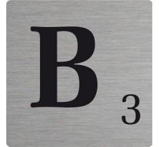 Lettre déco Scrabble en alu B