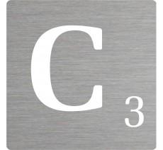 Lettre déco Scrabble en alu C