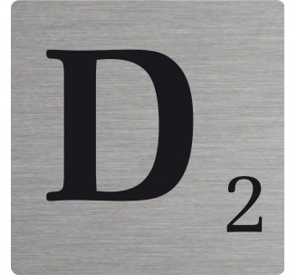 Lettre déco Scrabble en alu D