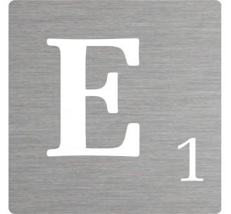 Lettre déco Scrabble en alu E