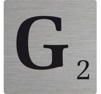 Lettre déco Scrabble en alu G