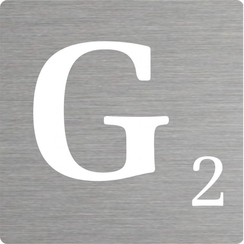 lettre g d corative type scrabble en aluminium. Black Bedroom Furniture Sets. Home Design Ideas