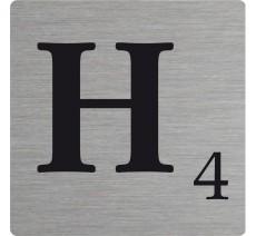 Lettre déco Scrabble en alu H