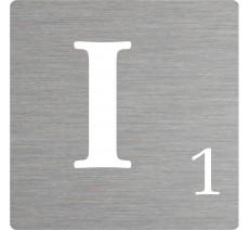 Lettre déco Scrabble en alu I