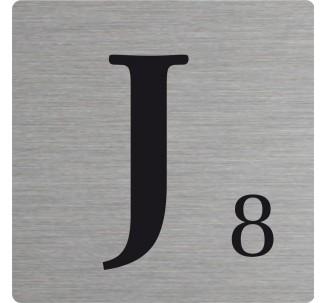 Lettre déco Scrabble en alu J