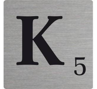 Lettre déco Scrabble en alu   K