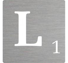 Lettre déco Scrabble en alu L