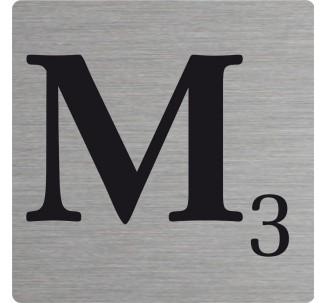 Lettre déco Scrabble en alu M