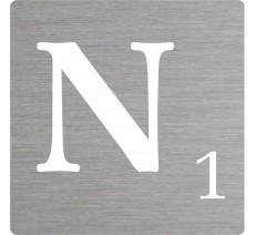 Lettre déco Scrabble en alu N