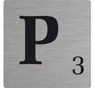 Lettre déco Scrabble en alu P
