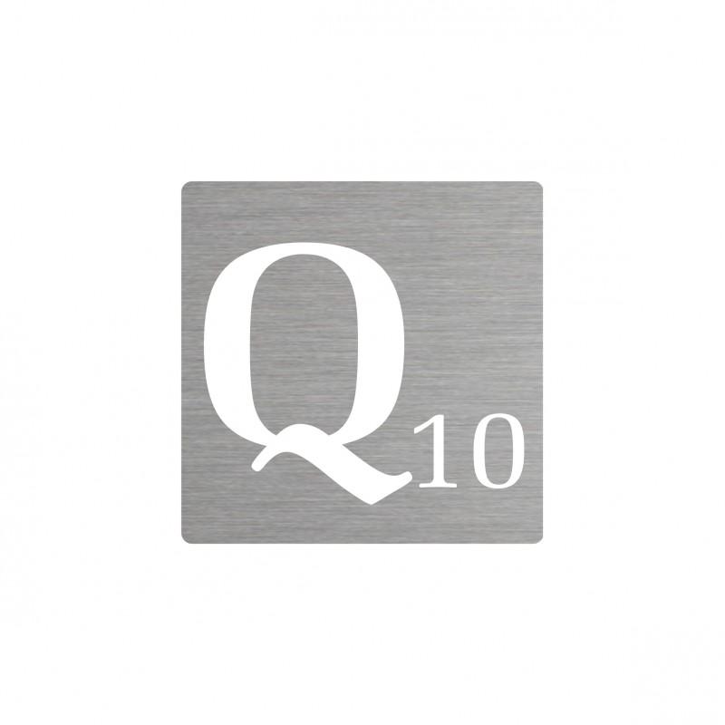 Lettre q d corative type scrabble en aluminium - Deco lettre scrabble ...